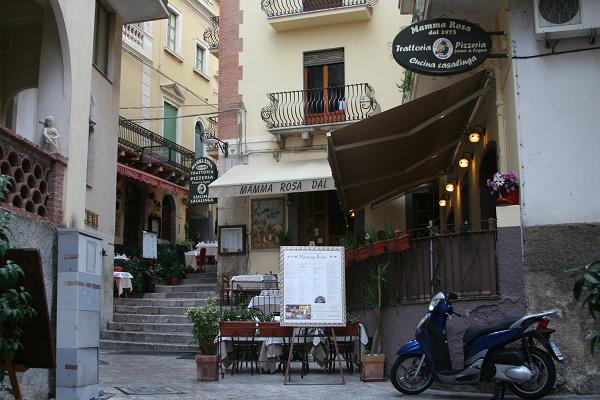 Taormina's 'Restaurant street'